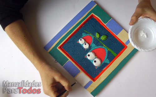 Cuadro decorativo con relieves